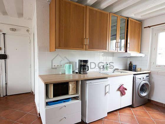 Kitchen with tile floor