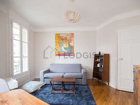 Very quiet living room furnished with 1 sofabed(s) of 140cm, dining table, coffee table, 2 chair(s)