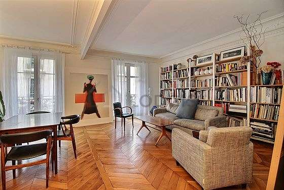 Living room with wooden floor