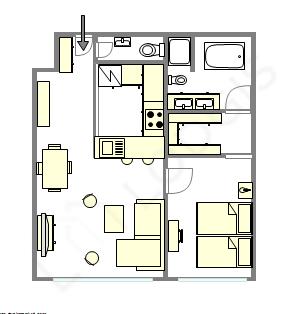 Apartment Paris 16° - Interactive plan