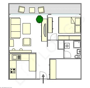 Apartamento Paris 11° - Plano interativo