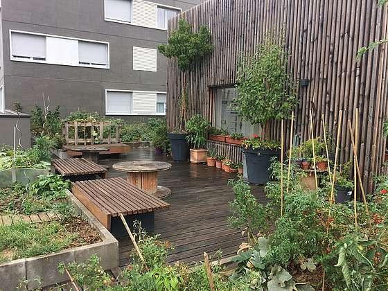 Jardin de 7m²
