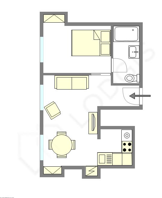 Apartment Paris 3° - Interactive plan