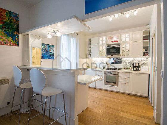 Great kitchen with wooden floor