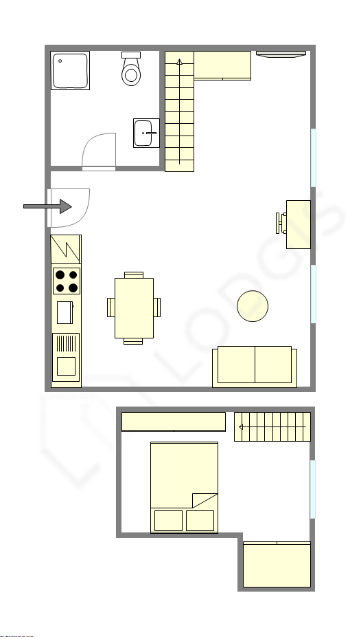 Duplex Paris 4° - Interactive plan