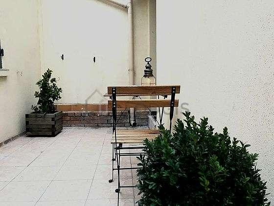 Balcony with paving floor