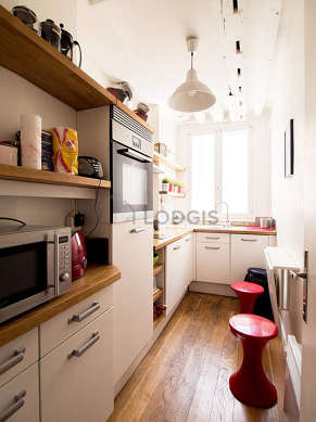 Great kitchen with wooden floor