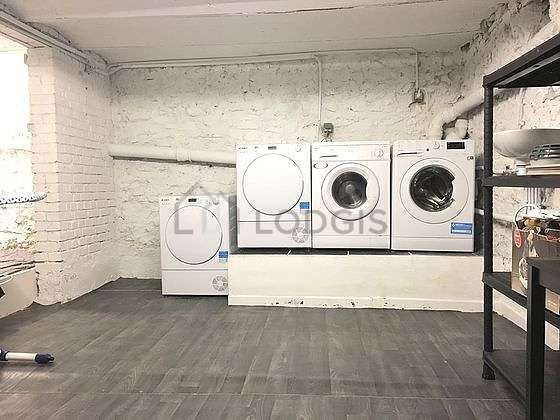 Laundry room equipped with washing machine, dryer