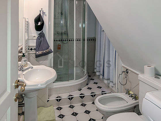 Bathroom with tile floor