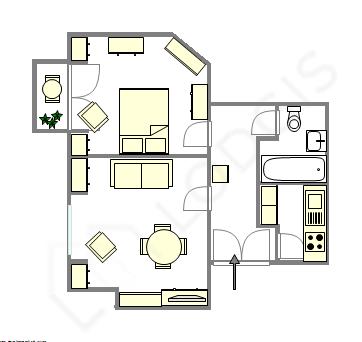 Apartment Paris 9° - Interactive plan