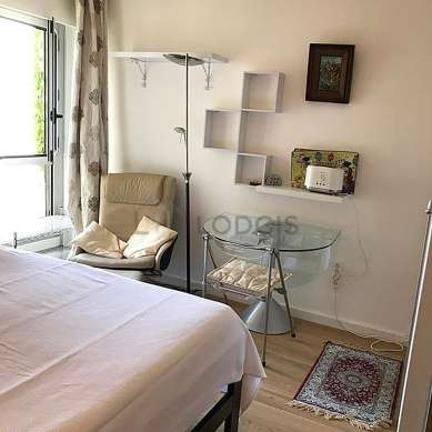 Very quiet living room furnished with 1 pullout bed(s) of 90cm, tv, fan, 1 armchair(s)
