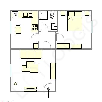 Apartamento Paris 1° - Plano interativo