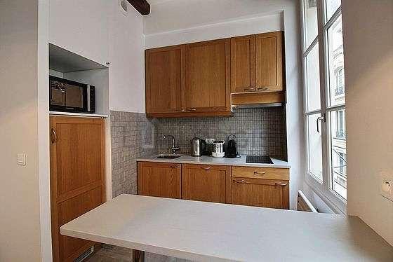 Kitchen equipped with dishwasher, hob, refrigerator, freezer