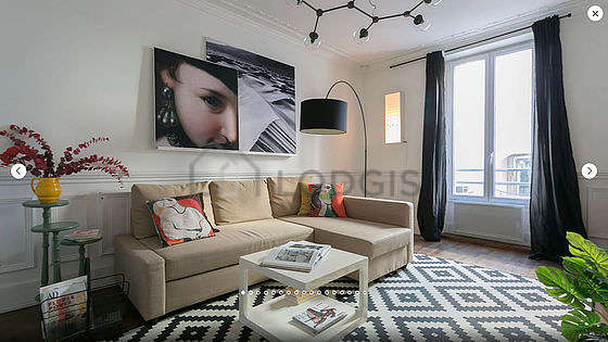 Very quiet living room furnished with 1 sofabed(s) of 180cm, coffee table, storage space