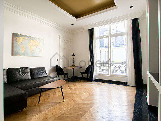 Very quiet living room furnished with 1 sofabed(s) of 180cm, tv, 2 chair(s)