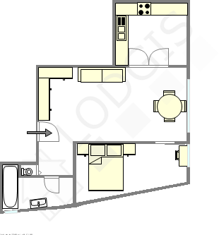 Apartment Paris 14° - Interactive plan