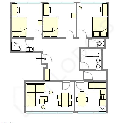Квартира Hauts de seine - Интерактивный план