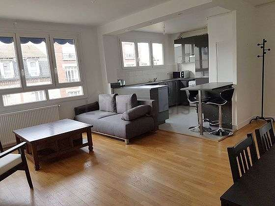 Very quiet living room furnished with 1 sofabed(s) of 140cm, sofa, 2 armchair(s), 1 chair(s)