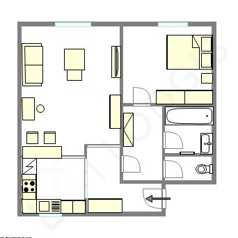 Wohnung Paris 20° - Interaktiven Plan