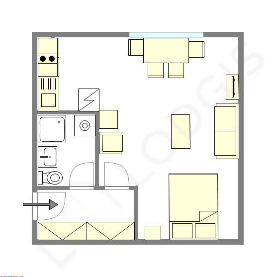 Apartment Hauts de seine Sud - Interactive plan