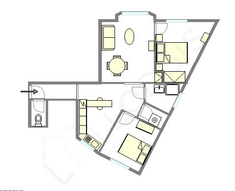 Квартира Seine st-denis - Интерактивный план