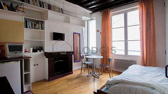 Beautiful, very quiet and bright sitting room of an apartment in Paris