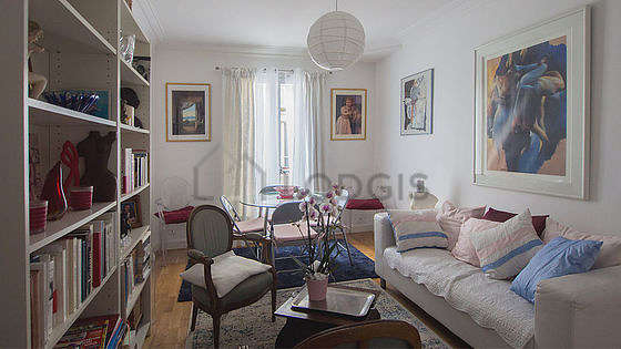Very quiet living room furnished with sofa, 1 armchair(s), 1 chair(s)