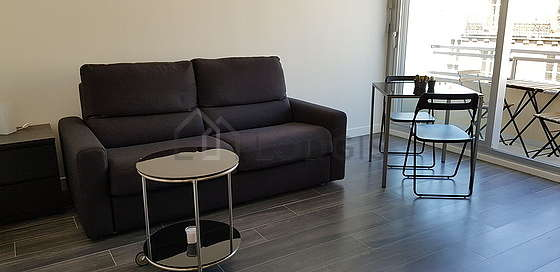 Very quiet living room furnished with 1 sofabed(s) of 140cm, tv, 2 chair(s)