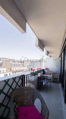Balcony facing due west