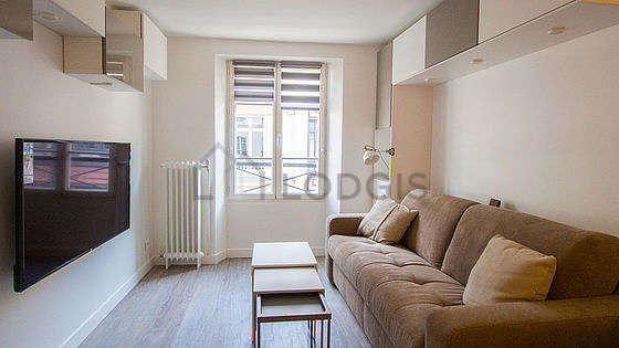 Very quiet living room furnished with 1 sofabed(s) of 0cm, tv, wardrobe, cupboard