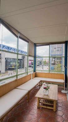 Pleasant veranda with tile floor