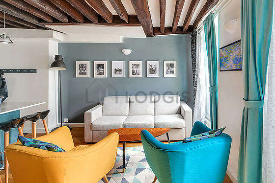 Great, quiet sitting room of an apartment in Paris