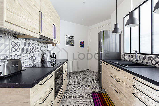 Great kitchen of 13m² with tile floor