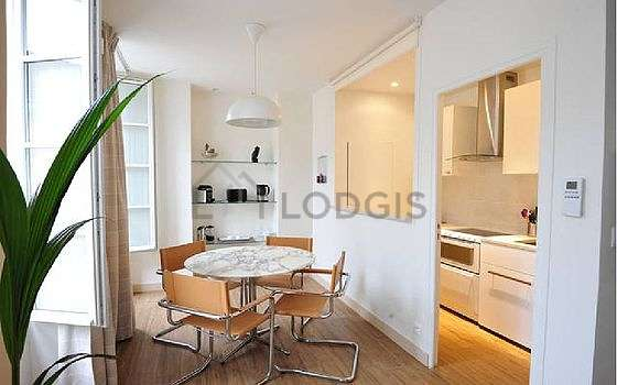 Great kitchen of 4m² with wooden floor