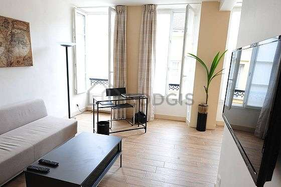 Very quiet living room furnished with 1 sofabed(s) of 140cm, tv, 1 armchair(s), 5 chair(s)
