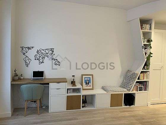 Quiet living room furnished with 1 sofabed(s) of 180cm, sofa, wardrobe, cupboard