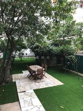 Magnifique jardin de 100m² avec de la pelouse au sol