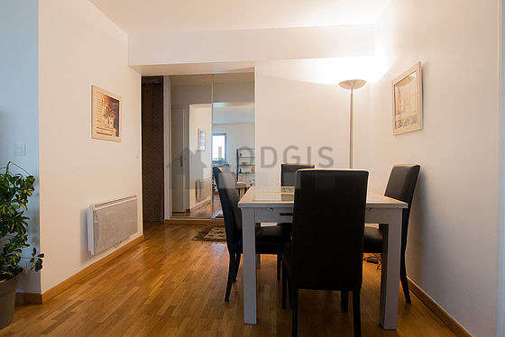 Very bright living room furnished with cupboard, 4 chair(s)