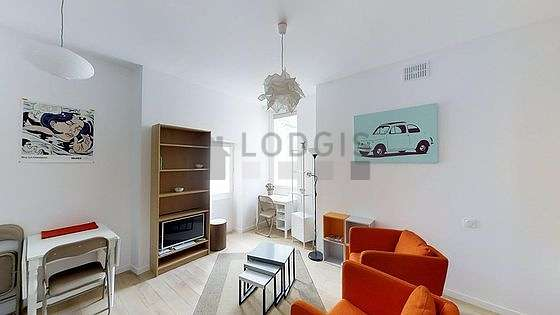 Very quiet living room furnished with 1 murphy bed(s) of 140cm, tv, 2 armchair(s), 5 chair(s)