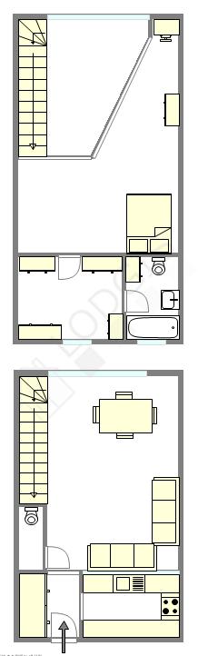 Duplex Paris 16° - Plan interactif