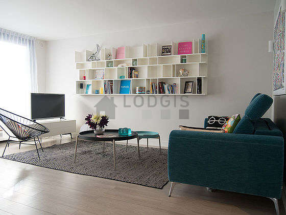 Living room furnished with 1 sofabed(s) of 160cm, tv, 1 armchair(s)