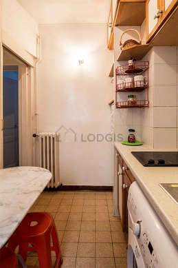 Kitchen equipped with stool