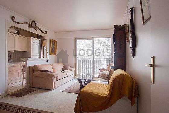 Séjour très calme équipé de 1 canapé(s) lit(s) de 90cm, téléviseur, 1 fauteuil(s), 4 chaise(s)