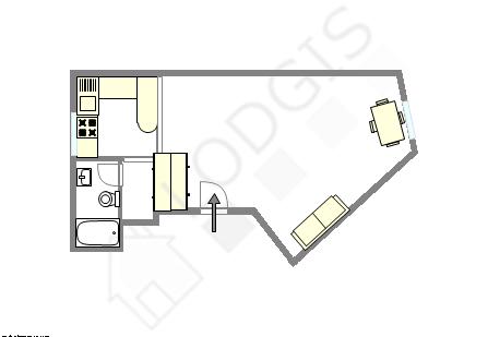 Wohnung Paris 6° - Interaktiven Plan