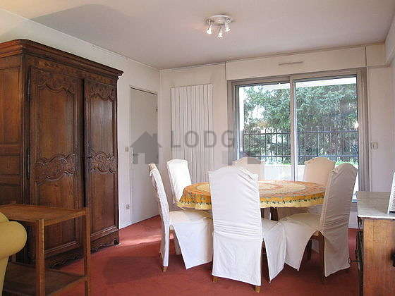 Quiet living room furnished with 1 sofabed(s) of 160cm, tv, 2 armchair(s), 6 chair(s)