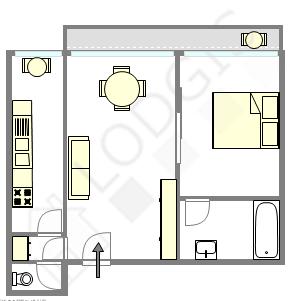 Apartamento Paris 16° - Plano interativo