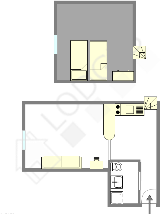Duplex Paris 17° - Interactive plan