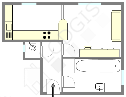 公寓 巴黎12区 - 平面图