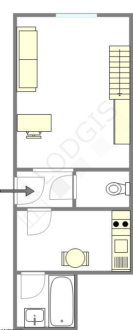 Apartamento París 17° - Plano interactivo