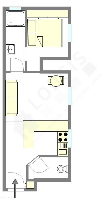 Appartement Paris 20° - Plan interactif